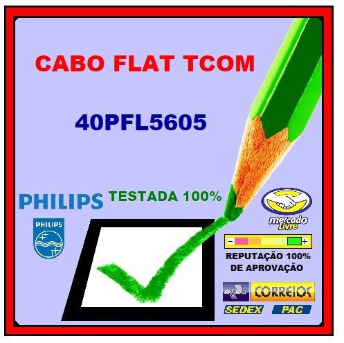 Cabo Flat Tcom Philips 40pfl5605 40pfl5615 40pfl6605 O Par