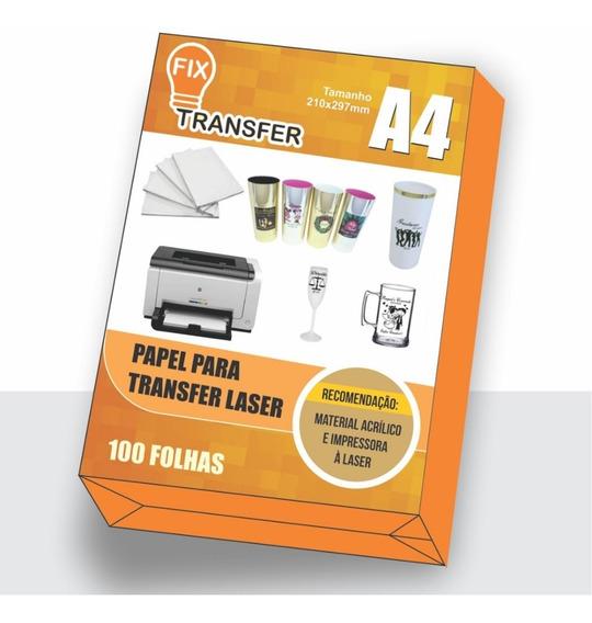 Papel Tranfer Laser 1000 Folhas A4 10 Pacotes Com 100 Folhas