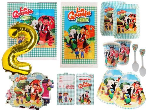 Kit Decoracion La Granja De Zenòn 24 Niños + Obsequio