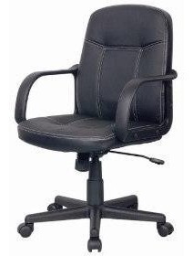 Cadeira Preta De Couro Eco Giratória Com Frete Grátis Brasil