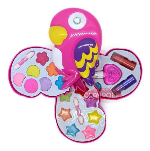 Set De Maquillaje Infantil Pinturitas Belleza Caja Pajarito
