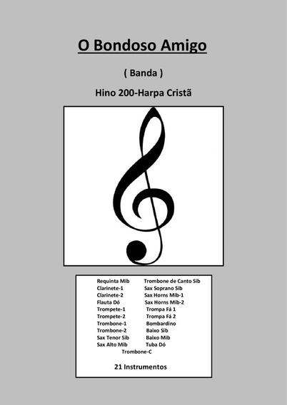 Pdf Partitura / Banda - C/4 Hinos Da Harpa 200-312-323-482