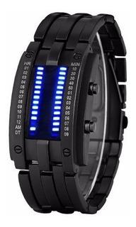 Reloj Futurista Binario Relojes Mujer Hombre Electronico