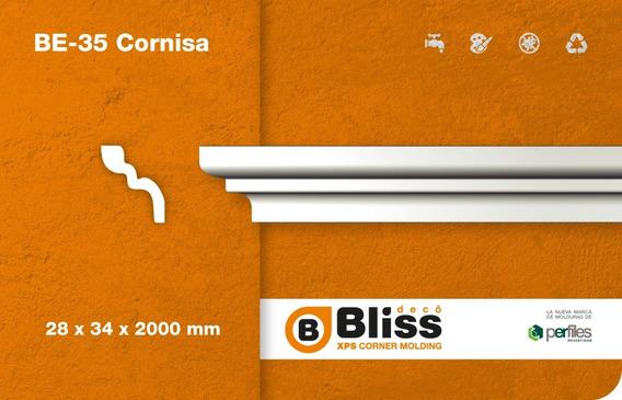Cornisa Moldura Interior Blis Deco Telgopor Be35 Pack X 4mt