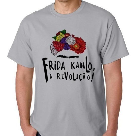 Camiseta Frida Kahlo Camisa Blusa Feminina Masculino Pintora