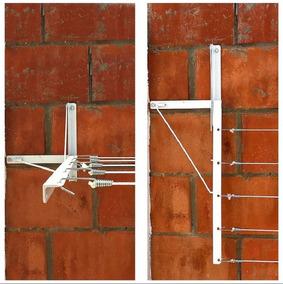Varal Dobrável Articulável Basculante De Parede Muro