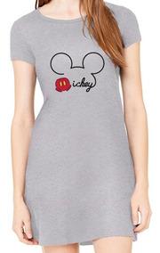 Vestido Curto Mickey Mouse Moda Roupa De Menina