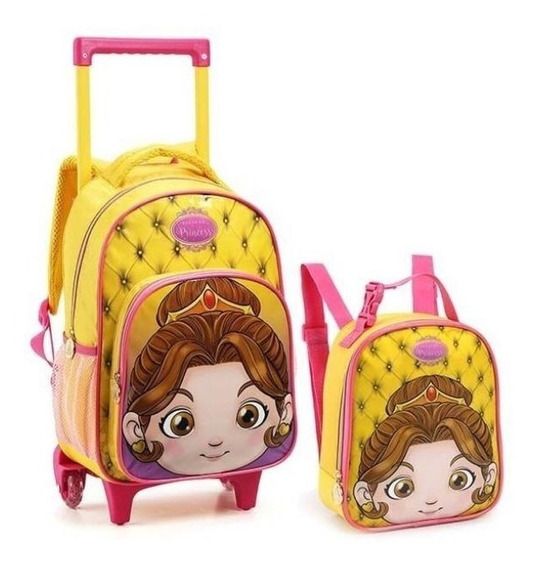 Kit Mochila Infantil Princesa + Lancheira
