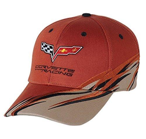 Corvette C6 Racing Flash Logo Sombrero Cap Orange Chevrolet