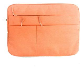 Funda Porta Notebook Con Cierre Y Bolsillos, Calidad Premium