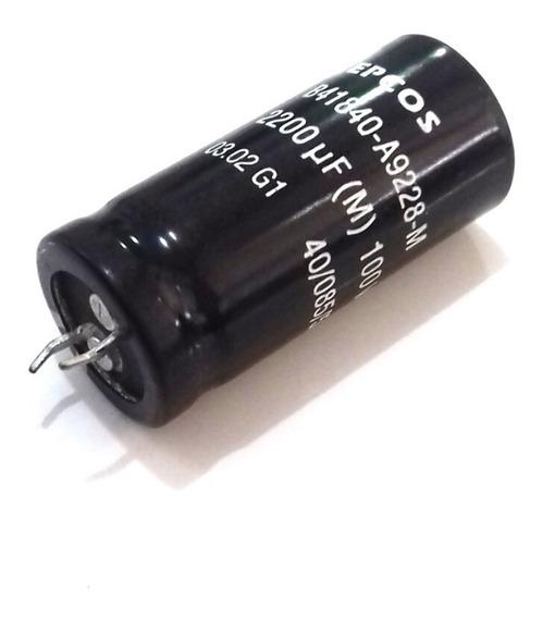 1 Capacitor Eletrolítico 2200uf 100v 40/085/56 Snap In Epcos