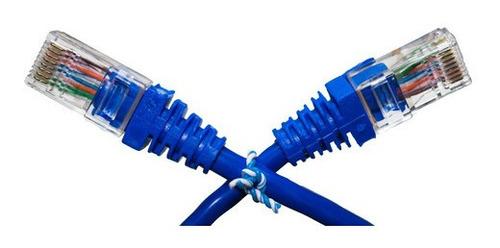Imagem 1 de 6 de Cabo De Rede Patch Cord 10 Cm Cat5e Azul 100 Unidades