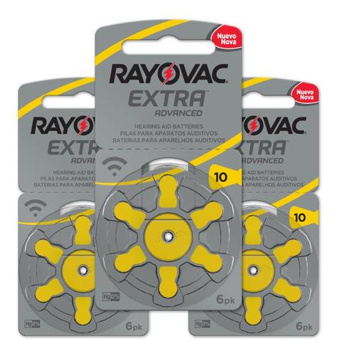 18 Pilhas Auditivas Rayovac Tamanho 10 / Pr70 / A10