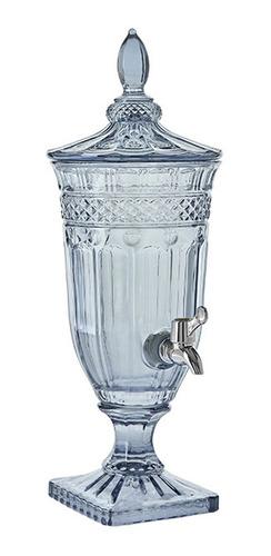 Suqueira De Vidro Queen Azul Água Suco Bebida 1,8 Litros
