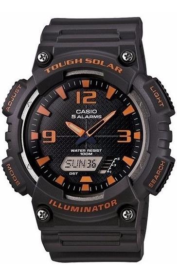 Reloj Casio Aq-s810w8 Dual Negro Wr100 Solar Analogo/digital