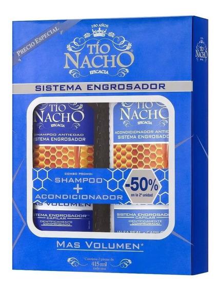 Monoestuche Tío Nacho Engrosador Shampoo + Acond X 415ml