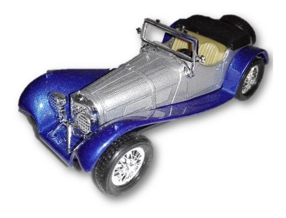 Auto Jaguar Ss100 Welly Die Cast Retrocuerda Pull&back