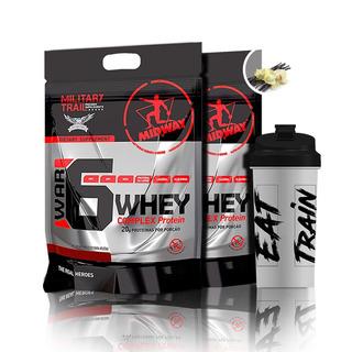 War 6 Protein Complex 1,8kg X2 + Shaker Midway S/ Juros