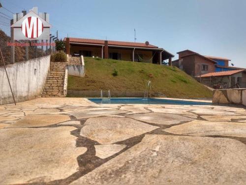 Imagem 1 de 25 de Linda Chácara Avarandada, Com 3 Dormitórios, Piscina, Excelente Localização,  À Venda, 1225 M² Por R$ 450.000 - Zona Rural - Pinhalzinho/sp - Ch0672