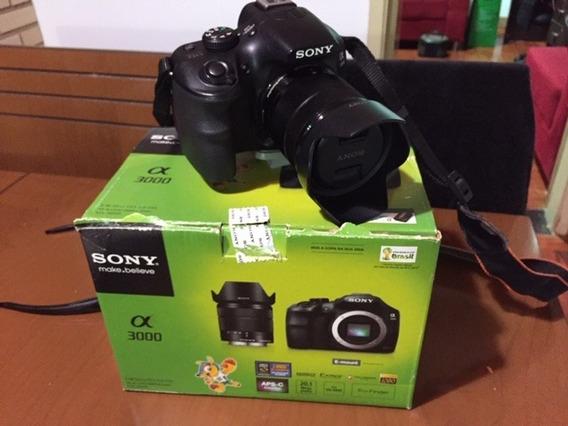 Câmera Sony Alpha 3000 20.1mp Muito Nova Com Bolsa+acess.