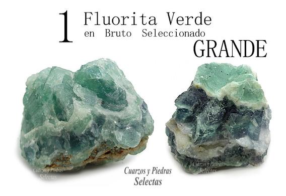 Grande 1 Fluorita Verde Piedra Natural En Bruto Cuarzo