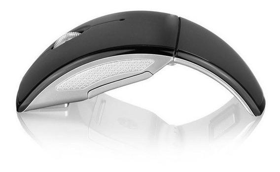 Mouse Estilo Arco Sem Fio 2.4 Ghz Usb Alcance Até 10m Black