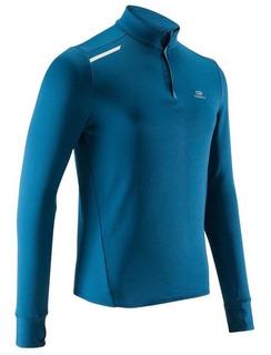 Camiseta Azul De Manga Larga Para Running 8502755