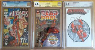 New Mutants # 98, Deadpool # 1 + Sketch ( Comics Cgc, Pgx )