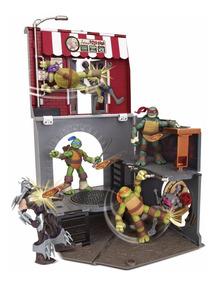 Tartarugas Ninja Playset Pop Up Alley Multikids