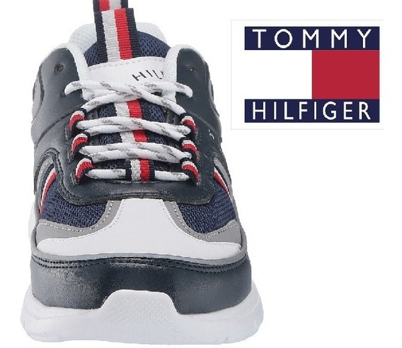 Tommy Hilfiger Originales Tenis Azul Para Dama, Reflejantes