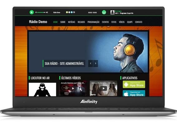 Tenha Sua Web Rádio Completa Com Live Atualizada + App Promo