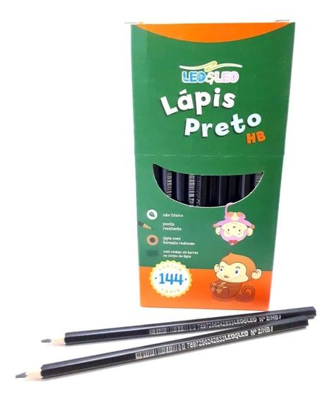 Lápis De Escrever Grafite Hb Preto E Leo Leo Com 144 Lapis