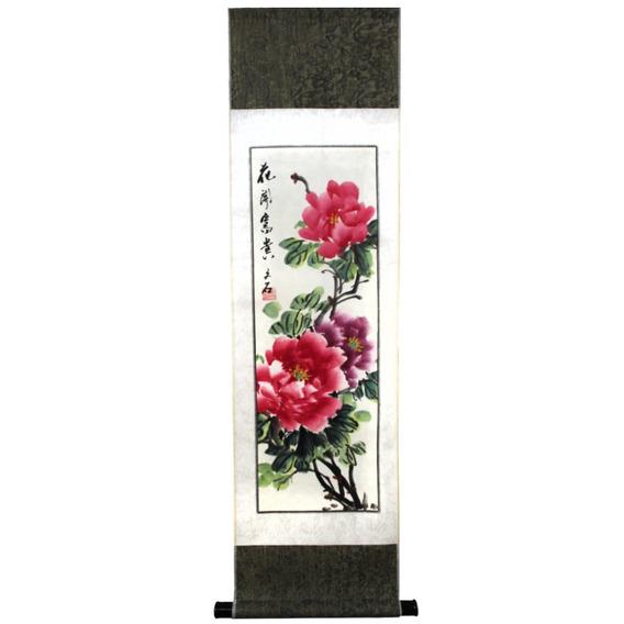 Flâmula Decorativa De Tecido Para Parede - Flor Rosa 96 X 24