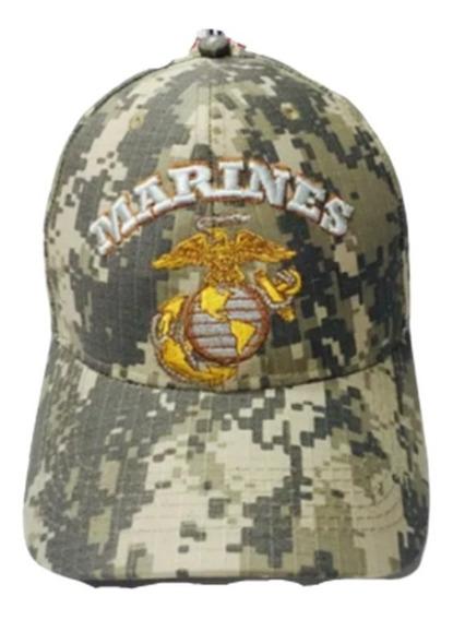 Boné Marines Corps Unites States Camuflado Bordado