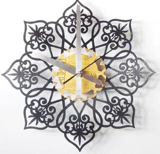 Reloj Mandala En Disco De Vinilo Diseño Unico Calado