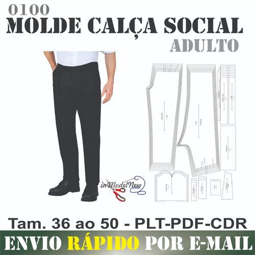 Molde Digital - Modelagem De Calça Social Masculino Adulto
