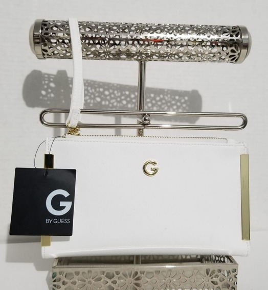 Monedero Pulsera By Guess Doble Cierre Original Blanco