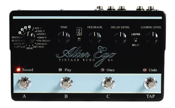 Pedal Para Guitarra Delay Alter Ego X4 Tc Electronic