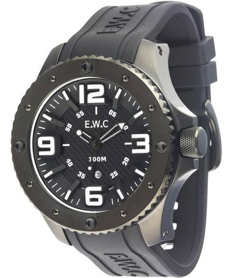 Relógio Analógico Masculino Grande E.w.c Emt12325-b Oferta