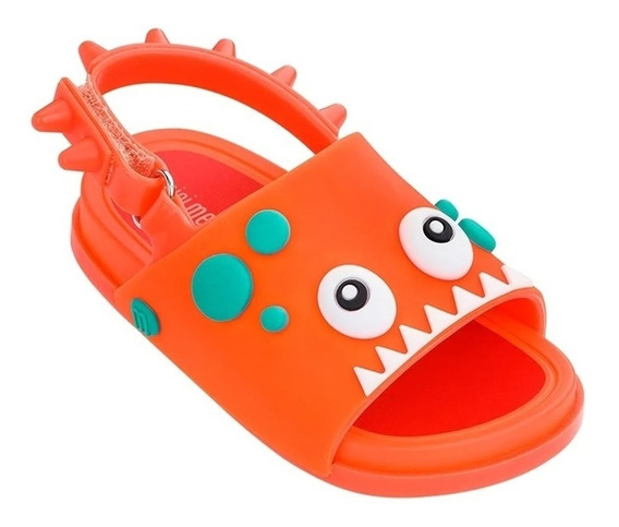 Mini Melissa Beach Slide Dino Laranja - Original - Nf