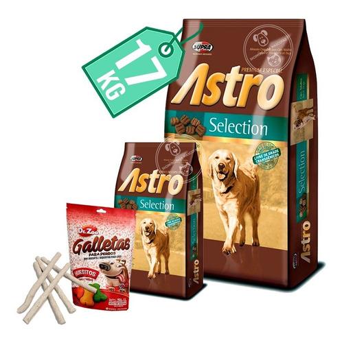 Imagen 1 de 2 de Comida Perro Astro Selection 15 Kg + 2 Kg