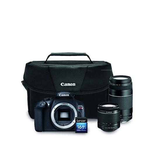 Canon Eos Rebel T6 Premium Kit 18-55mm+75-300mm+maletín+16gb