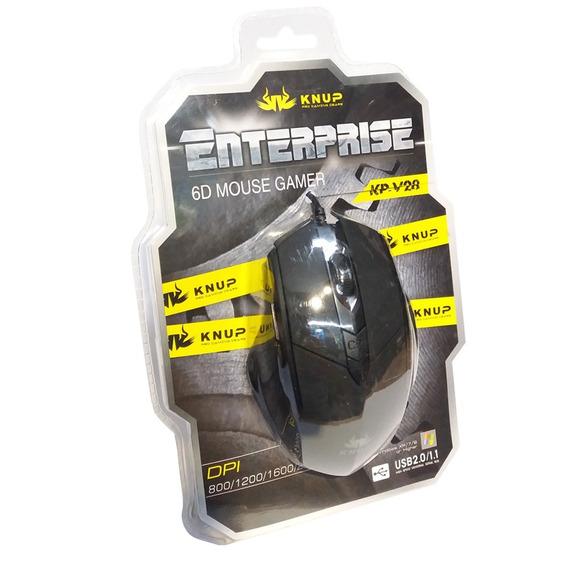 Mouse Gamer Usb 2400 Dpi Knup-kp V28