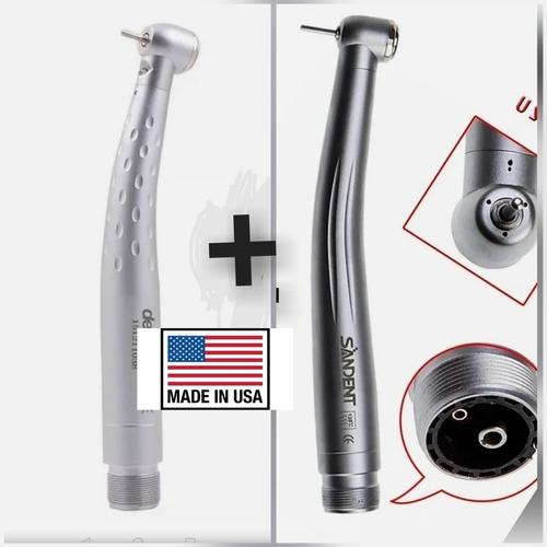 Imagen 1 de 4 de 2 Pack Pieza De Mano Dental  Led Odontología Más Turbina