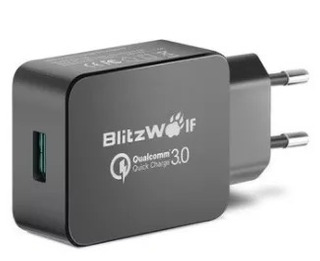 Carregador Turbo Blitzwolf Qc 3.0 + Cabo Micro Usb Blitzwolf