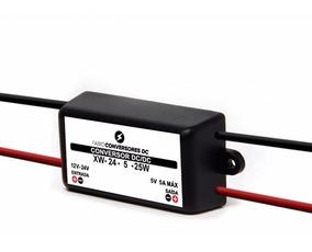 Regulador Tensão Dc-dc Entrada 12-24v Saida 5v 5 Amp (au22)