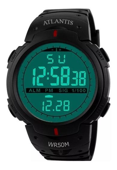 Relógio G Digital Atlantis Sport Shock Militar Prova D´água