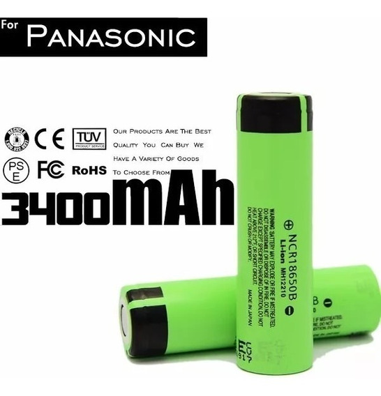 Bateria Japan Panasonic Ncr 18650 B 3.7v 3400mah Nova