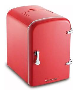 Geladeira Portátil Cooler Térmico Retro Vermelha 4l 12v 110v