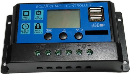 Imagen 1 de 4 de Regulador Para Panel Solar 12v 24v 20a - Electroimpulso